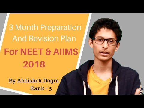 3 Months Revision and Preparation Plan for AIIMS & NEET | Rank-5 | NEET 17 Abhishek Dogra