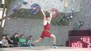 Рахматуллин Альберт, 16 лет, вк 69 Толчок 120 кг
