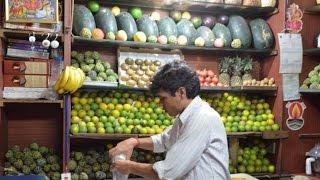 Avocado, Custard Apple, Kiwi Pine Apple, pomegranate Juices   Indian Street Food in Hyderabad