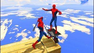 GTA 5 Water Ragdolls SPIDERMAN EPIC (Euphoria Physics, Ragdolls, Fails, Funny Moments)