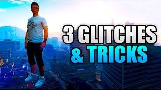 GTA 5 Online - 3 NEW GLITCHES & TRICKS! (Launch Glitch, Sit On Lap Glitch & Hiding Spot)