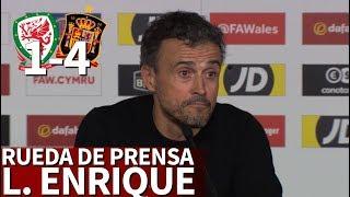 Gales 1-4 España | Luis Enrique en rueda de prensa | Diario As