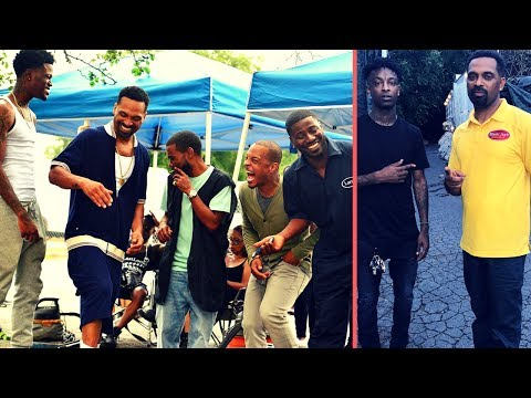 TI Mike Epps 21 Savage Teyana Taylor New Movie The Trap On Set Footage 21 Shows Acting Skills