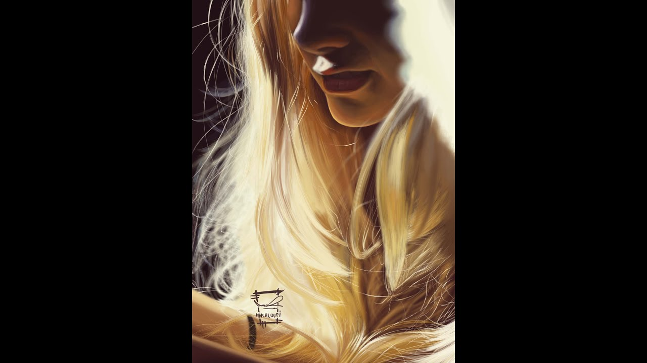 speed painting hair in the sun digital art youtube