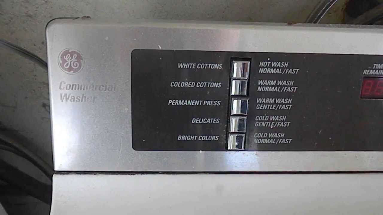 Ge Appliances Washing Machine Ge Commercial Washer Service Youtube