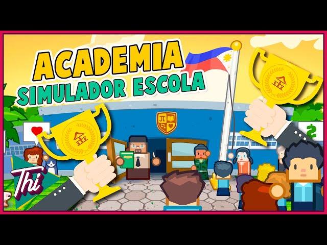 YEAH!! Superamos a ESCOLA RIVAL - ACADEMIA SCHOOL SIMULATOR #08 - PT BR