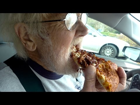 Angry Grandpa - The Little Caesars Smokehouse Pizza!