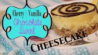 Chocolate Swirl Cheesecake W/ A Cherry Vanilla Granola Crust