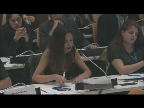 Tatia Dolidze about (Russian) Media Propaganda, UNHQ, New York