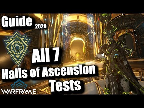 Warframe | All 7 Halls of Ascension Tests SOLO GUIDE 2020