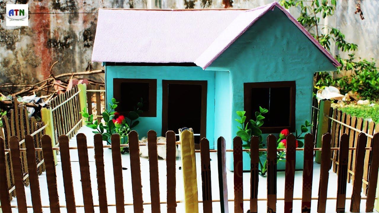 Mini Cardboard House for Rural Villagers | How To Make Mini Rural ...