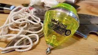 Trompos Cometa King Turbo Spin Top Unboxing and Review. Mexican Trompo spinning top.