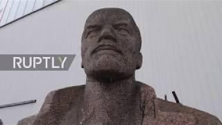 Germany  Twelve metre high Lenin statue heads for auction alongside Stalin sculpture