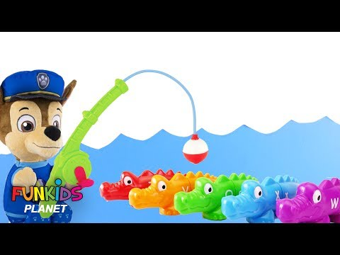 Learning Colors For Kids Paw Patrol Chase Marshall Goes Fishing