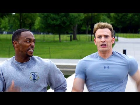 """On Your Left"" Steve Rogers & Sam Wilson - Running Scene - Captain America: The Winter Soldier"