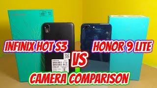 Infinix Hot S3 vs Honor 9 Lite Camera Comparison   Infinix Hot S3 Camera (Hindi)