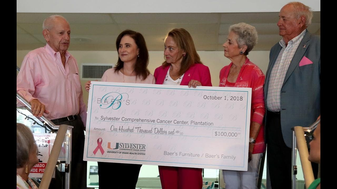 Baers Furniture contributes $100K to Sylvester Cancer Center