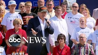 Donald Trump Tailgates at Iowa College Football Game