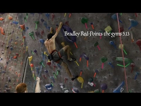 Bradley Red-Points the gyms 5.13 First accent  || climbing vlog