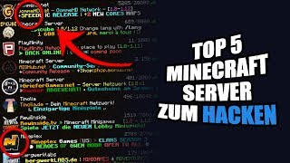 TOP 5 MINECRAFT SERVER ZUM HACKEN! | byEliteHacks