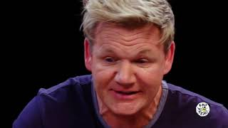 Hot Ones with Gordan Ramsay but it's just him swearing...