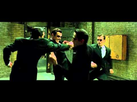 "The Matrix Reloaded - The ""Upgrades"" Fight - The Full Scene"