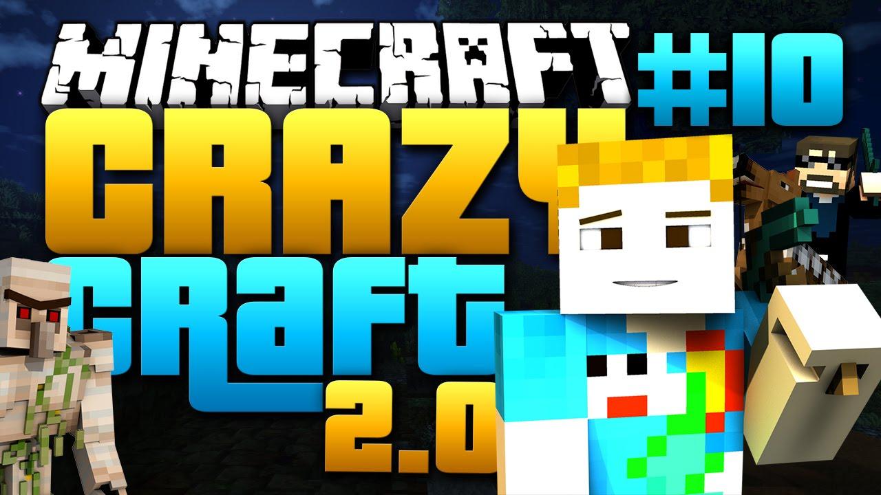 Minecraft: CRAZY CRAFT 2 0 - #10 | SO CLOSE TO BIG BERTHA