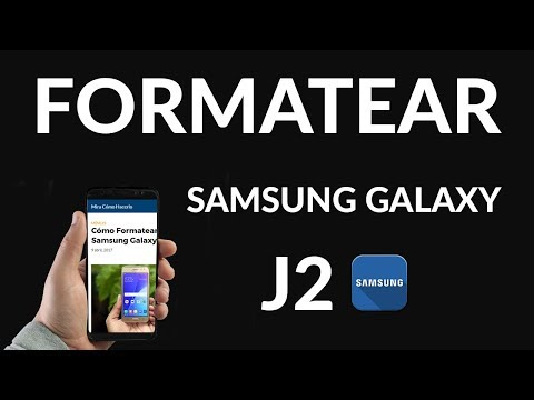 Cómo Formatear un Samsung Galaxy J2