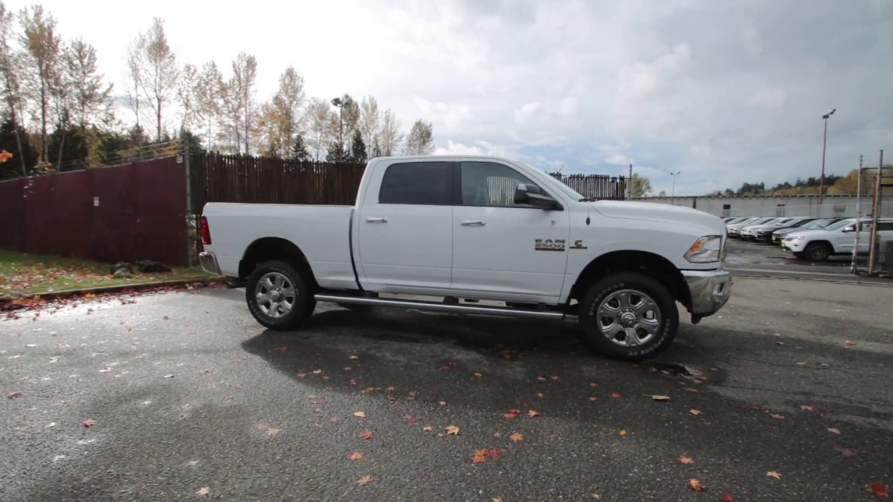 2017 dodge ram 2500 big horn bright white clearcoat hg517330 redmond seattle youtube. Black Bedroom Furniture Sets. Home Design Ideas