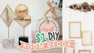 DIY DOLLAR STORE ROOM DECOR - $1 Aesthetic + Super Easy // Lone Fox