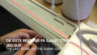 Flettesjal - Shawl / Silver Reed LK150