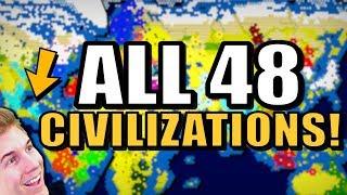 All 48 Nations Battle On A Massive World Map!   Civilization 6  All Civs