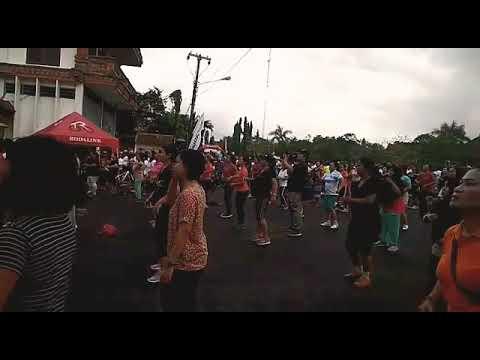 Kemeriahan senam ayo olahraga etape Gianyar Bali