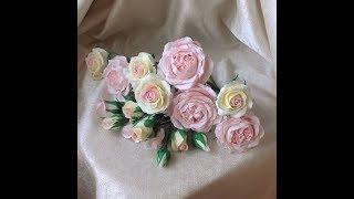 Сборка веточки кустовой розы