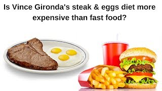 Is Vince Gironda's steak and eggs diet more expensive than fast food?