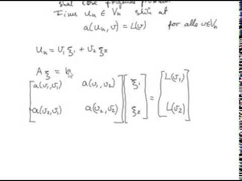 Finite element method Example 1 dim part 1 - YouTube