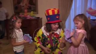 Клоун на День рождения Полины(Цирковое выступление и игровое развлечение клоуна на дому, на детском дне рождения девочки Полины. Интерес..., 2015-01-26T21:26:09.000Z)