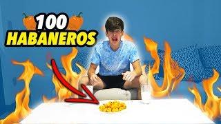 RETO DE COMER 100 HABANEROS EN 9 MINUTOS! (nuevo record)
