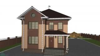 Проект двухэтажного дома на 4 спальни «Оптим»   C-178-ТП