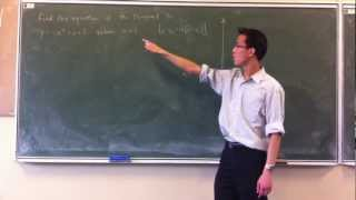 Find a tangent's equation