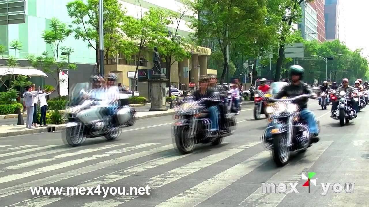 Desfile Motos Harley Davidson En La Ciudad De M Xico 2013