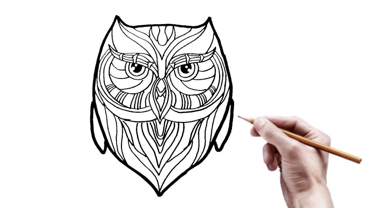 10 Ide Gambar Ragam Hias Burung Hantu The Toosh