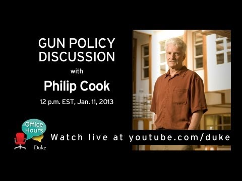 Philip Cook Discusses Gun Research