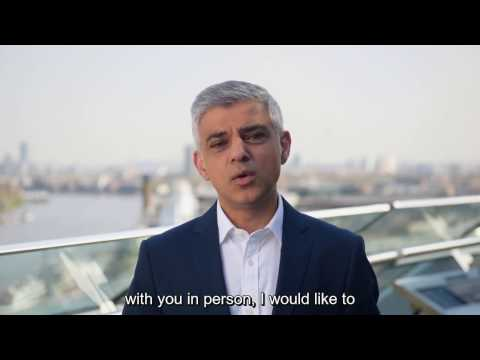Message from Sadiq Khan at The University of Law's Graduation Ceremony, April 2017