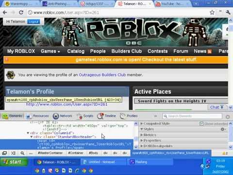 How To Hack Inspect Element To Delete Roblox Page Youtube