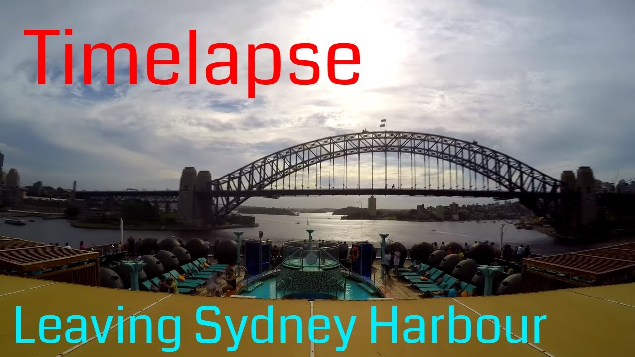 Timelapse Leaving Sydney Harbour Onboard The Carnival Legend - Cruise ship movements sydney harbour