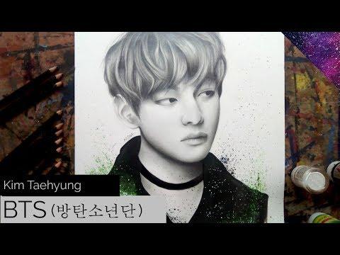 1c124b5f17d Drawing Kim Taehyung from BTS (방탄소년단) - YouTube