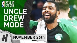 Kyrie Irving NASTY Highlights Celtics vs Pelicans 2018.11.26 - 26 Pts, 10 Assists!