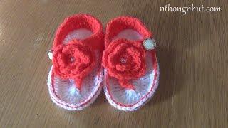 Hướng dẫn móc giày cho bé 9 -12 tháng