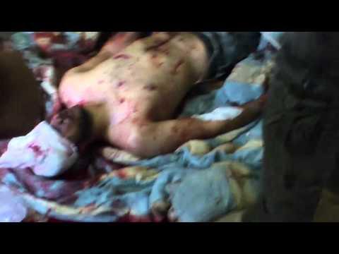 مجزرة حقيقة بحق المدنين  درعا طريق السد 16 12 2012